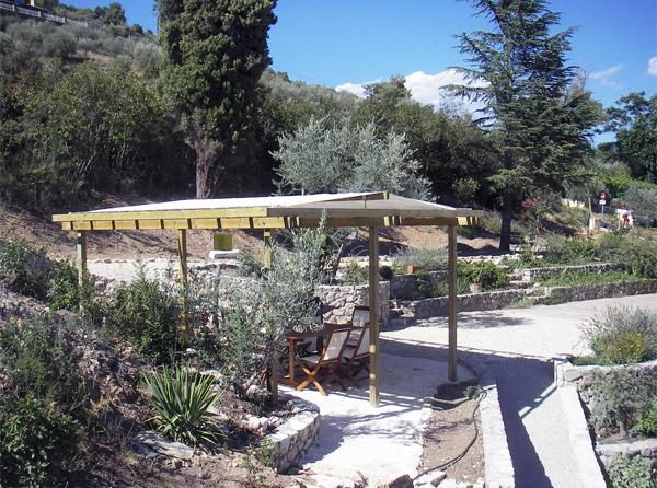 Muret, pergola - Manosque 2005