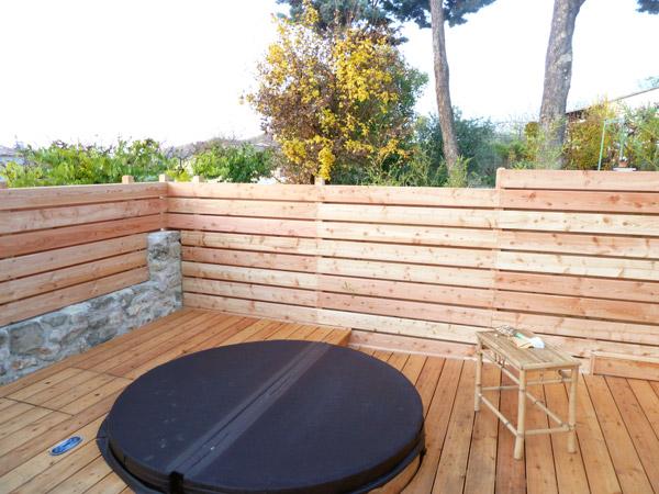 Palissade et terrasse en mélèze - Forcalquier 2012